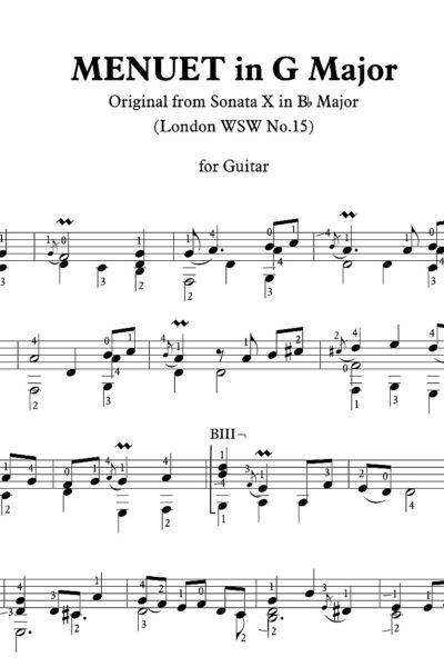 EM 6767 Sonata WSW 15 - Menuet-1