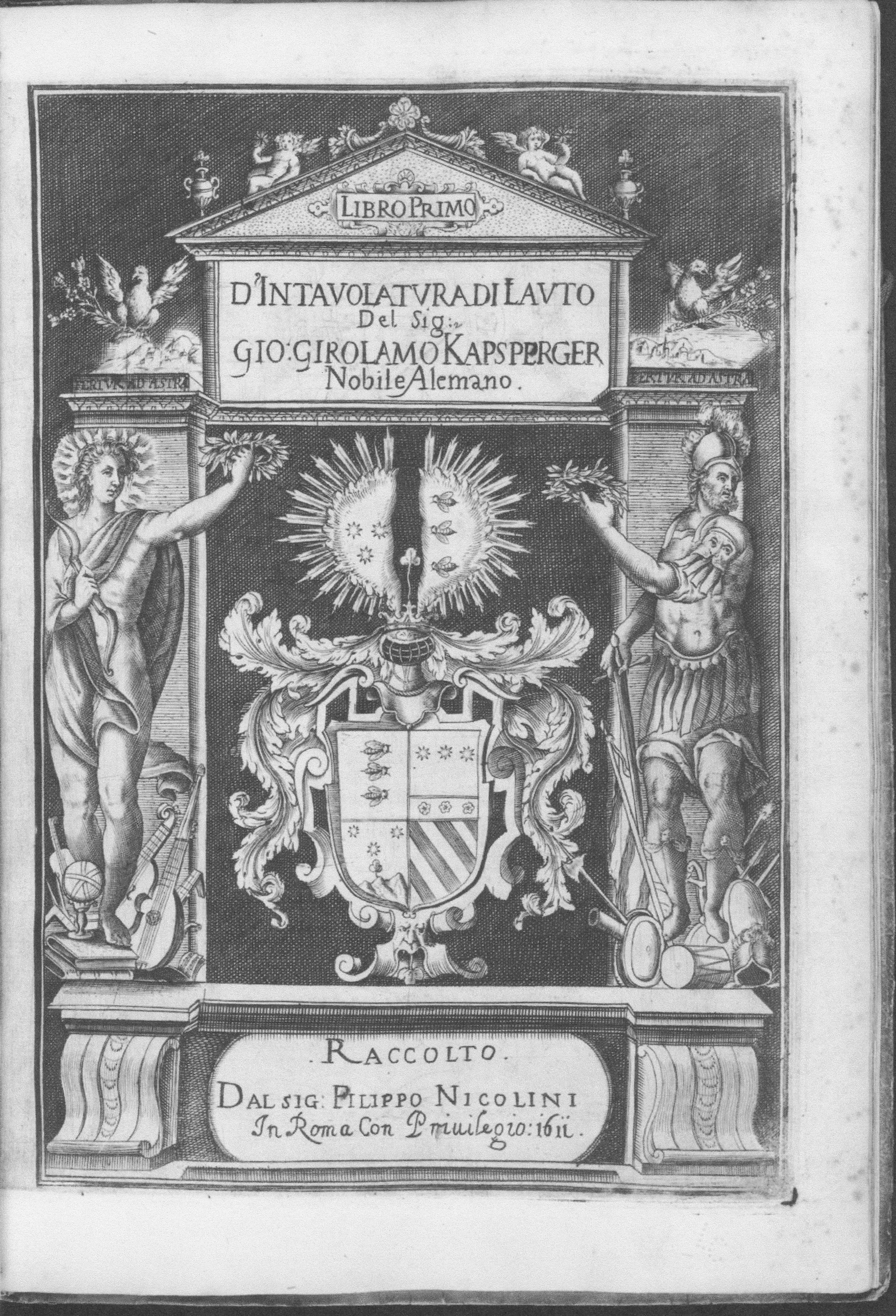 Kapsberger Libri primo di Lauto