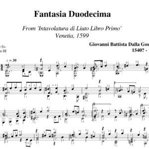 Gostena Fantasia Duodecima