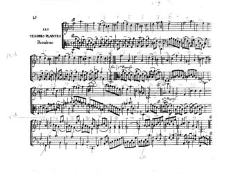 Rameau Les tendres plaintes original