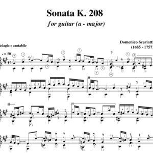 Scarlatti Sonata K 208