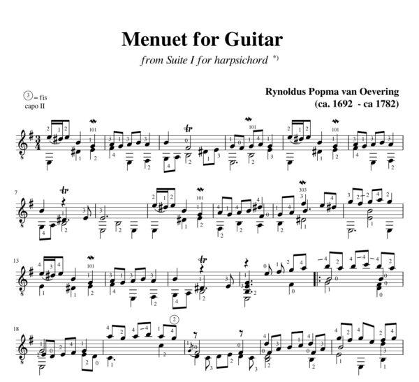 Popma Suite I Menuet