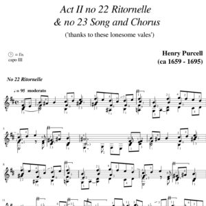 Purcell Dido & Aeneas Act II no 22 Ritornelle & no 23 Song and Chorus