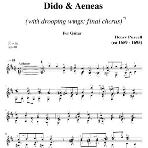 Purcell Dido & Aeneas Final Chorus