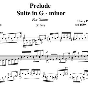 Purcell Prelude Suite in G minor
