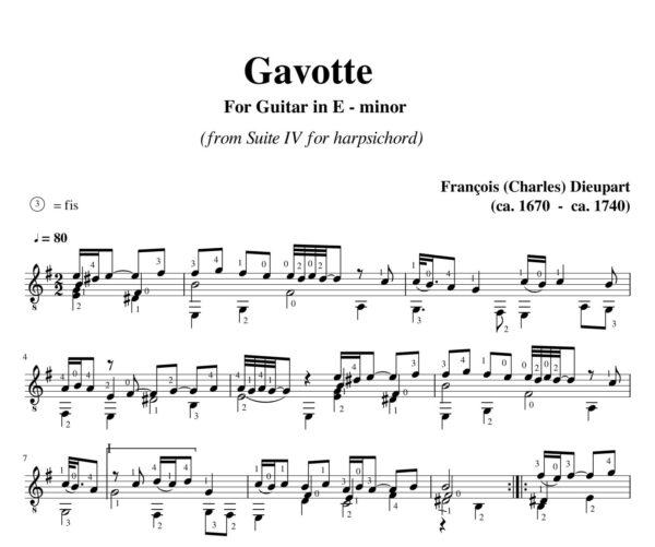 Dieupart Suite IV Gavotte