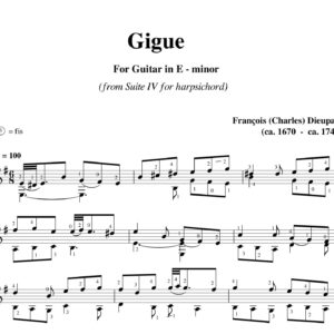 Dieupart Suite IV Gigue