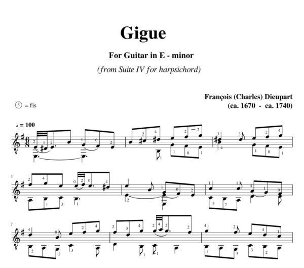 Dieupart Suite IV Gigue