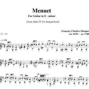 Dieupart Suite IV Menuet