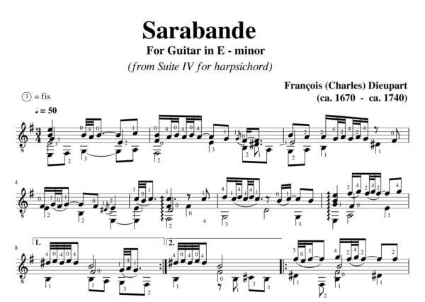 Dieupart Suite IV Sarabande
