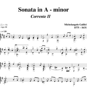 Galilei Sonata in A minor Corrente II