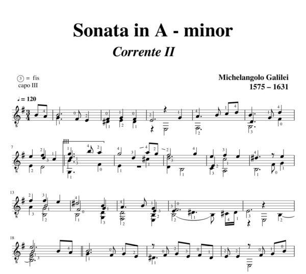 Galilei Sonata in A minor Corrente II