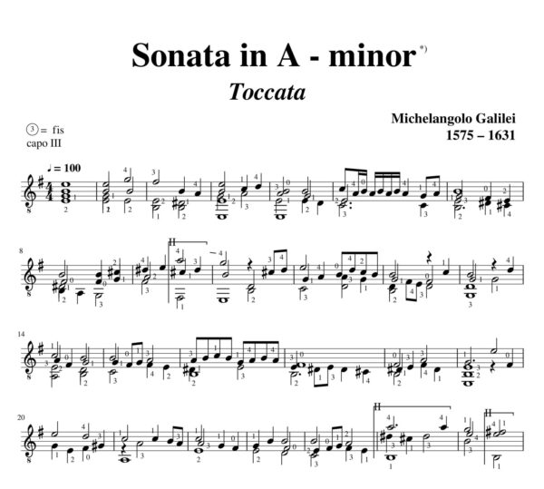 Galilei Sonata in A minor Toccata
