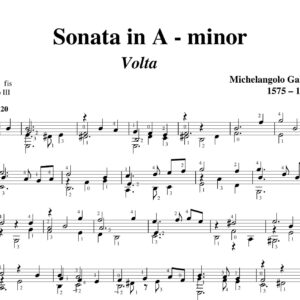 Galilei Sonata in A minor Volta