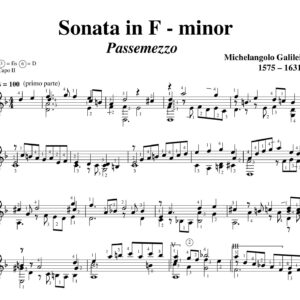 Galilei Sonata in F minor Passemezzo