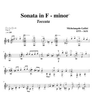 Galilei Sonata in F minor Toccata