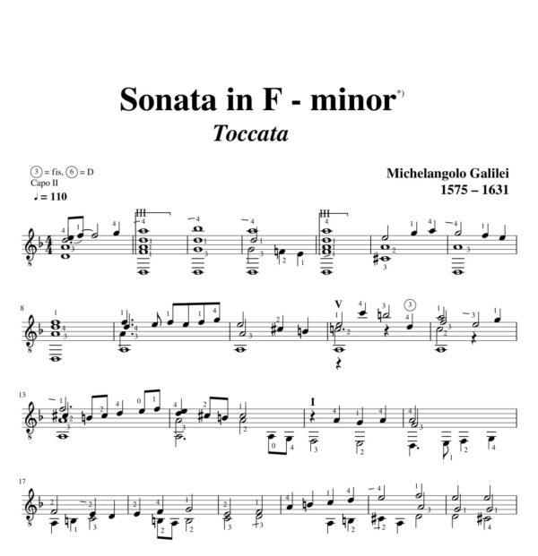 Galilei Sonata in F minor Toccata