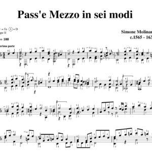 Molinaro Pass'e mezzo in sei modi d minor