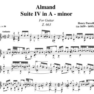 Purcell Almand Suite IV in A minor Z.663 jpg