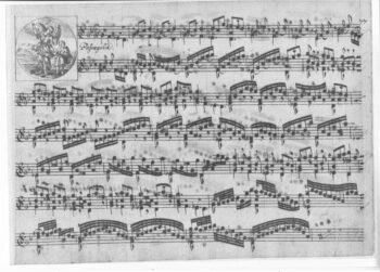 Biber Passagaglia manuscript