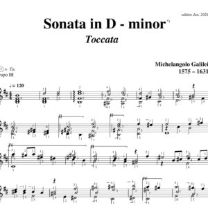 Galilei Sonata in D minor Toccata