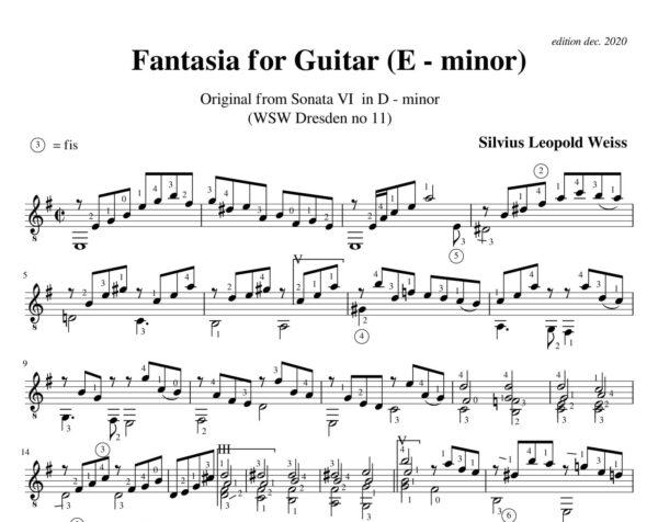 Weiss Sonata WSW 11 Fantasia
