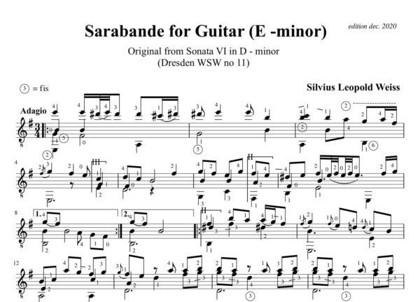 Weiss Sonata WSW 11 Sarabande