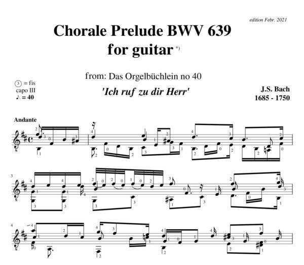 Bach Chorale Prelude BWV 639 Ich ruf zu dir Herr