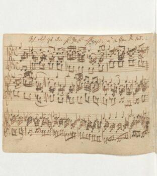 Bach Chorale Prelude BWV 639 original manuscript