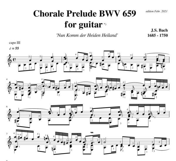 Bach Chorale Prelude BWV 659 Nun komm der Heiden Heiland