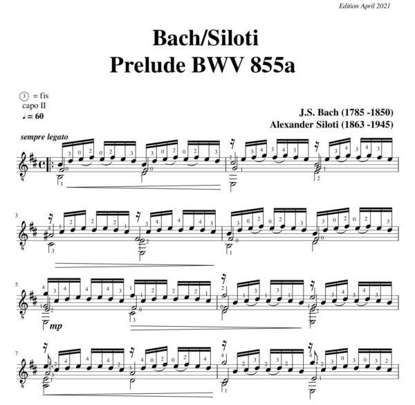 Bach-Siloti Prelude BWV 855a