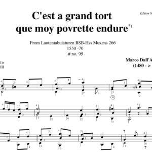 Dall' Aquila A grand tort Sermisy # 95