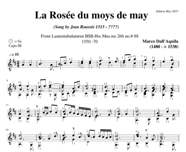 Dall' Aquila La Rosée de moys # 88 revised