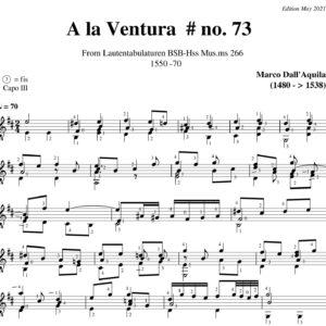 Dall' Aquila La Ventura Willaert # 73