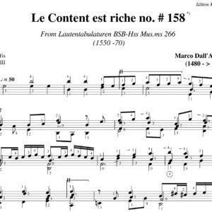 Dall' Aquila Le Content est riche. Sermisy # 158