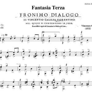 Vincenzo Galilei Fantasia Terza