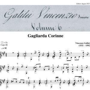 Vincenzo Galilei Gagliarda Corinne