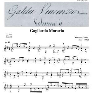 Vincenzo Galilei Gagliarda Moravia