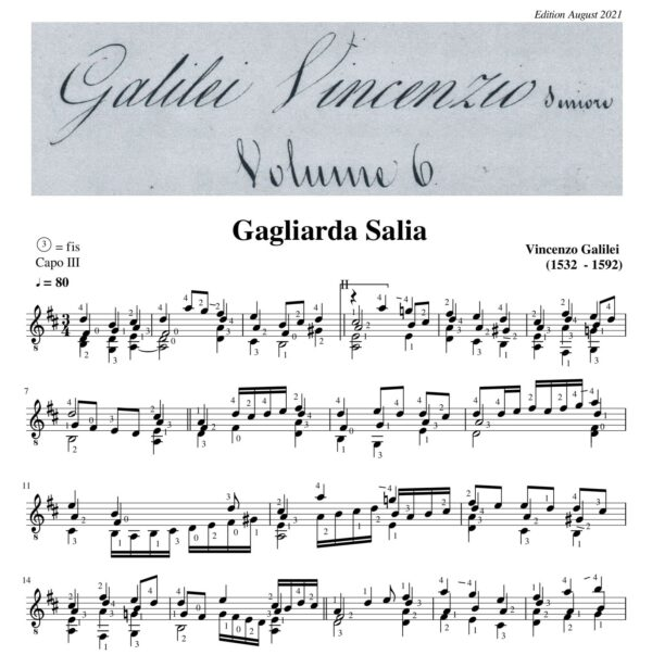Vincenzo Galilei Gagliarda Salia