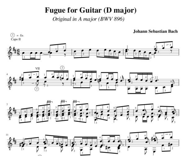 Bach Fugue BWV 896