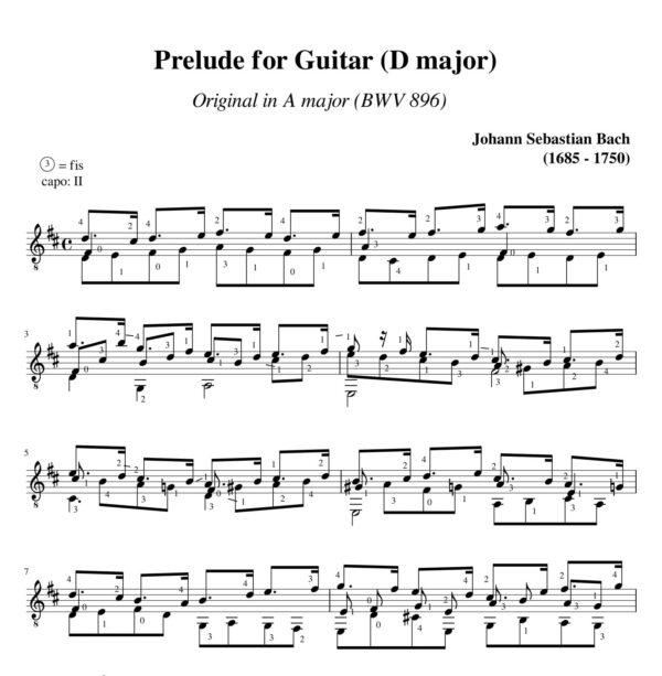 Bach Prelude BWV 896