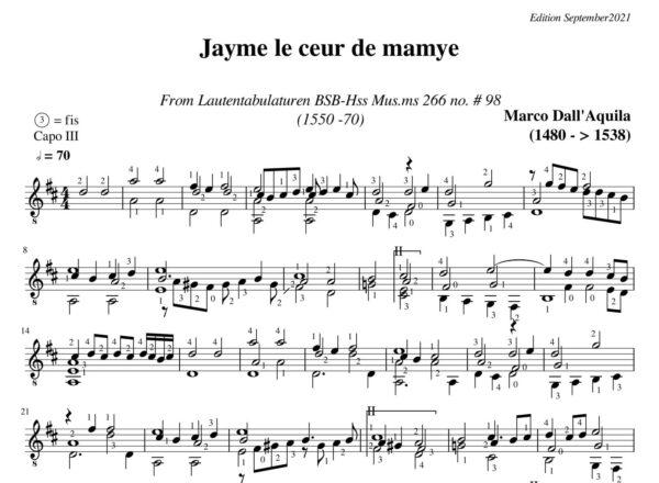 Dall' Aquila Jayme le ceur de mamye # 98