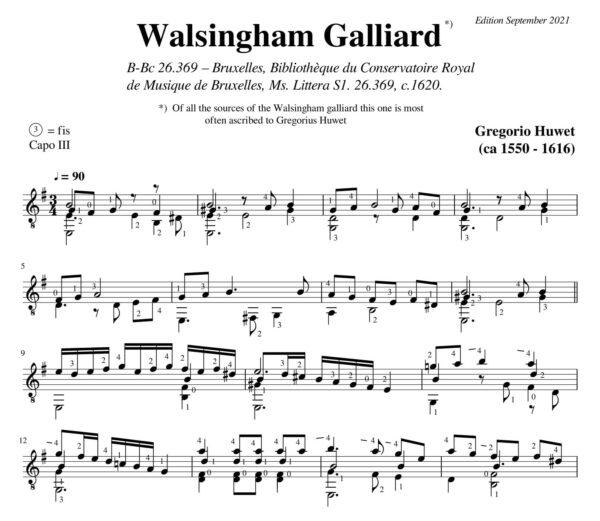 Gregorio Huwet Galliarde Walsingham
