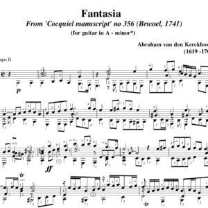 Kerckhoven Fantasia a minor. nr 356