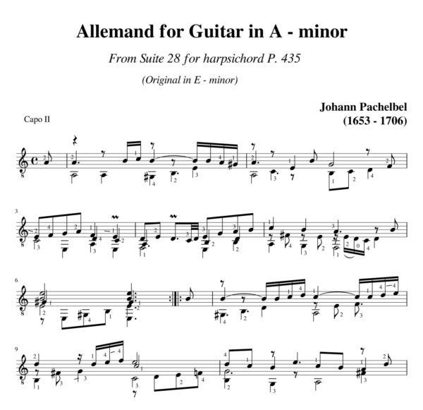 Pachelbel Allemand Suite 28 in A minor P 435