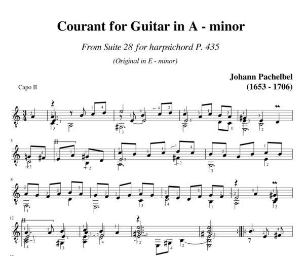 Pachelbel Courant Suite 28 in A minor P 435