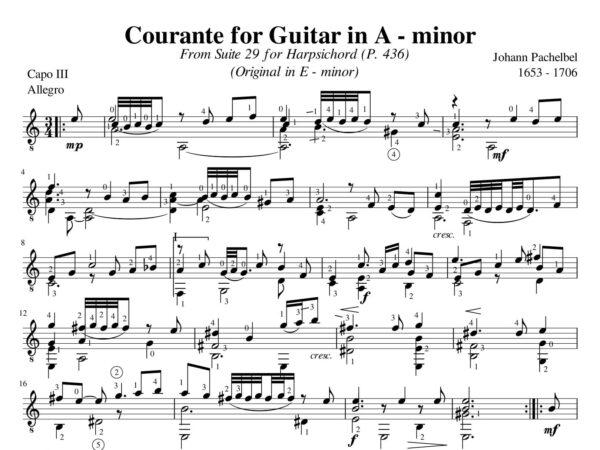 Pachelbel Courante Suite 29 A minor