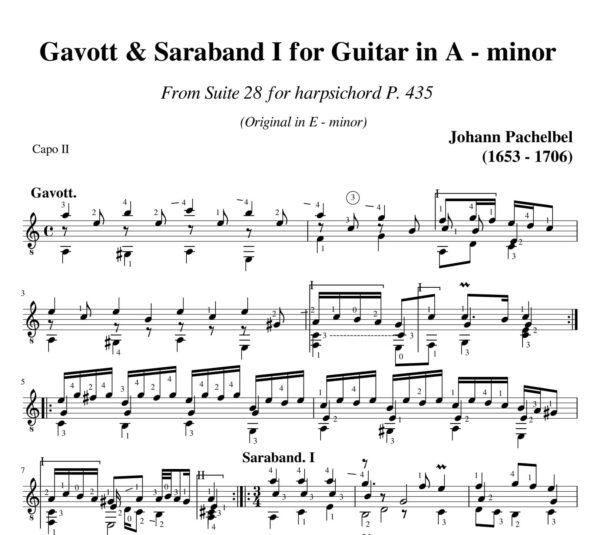 Pachelbel Gavott & Saraband I Suite 28 in A minor P 435