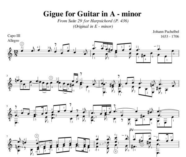 Pachelbel Gigue Suite 29 A minor