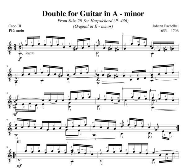 Pachelbel Le Double Suite 29 A minor
